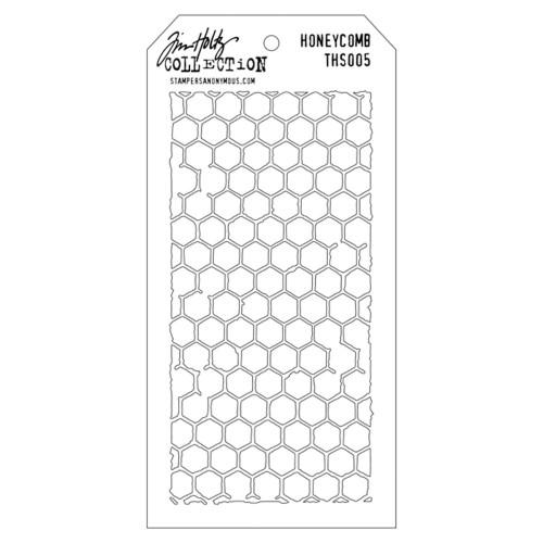 Tim Holtz Layered Stencil: Honeycomb