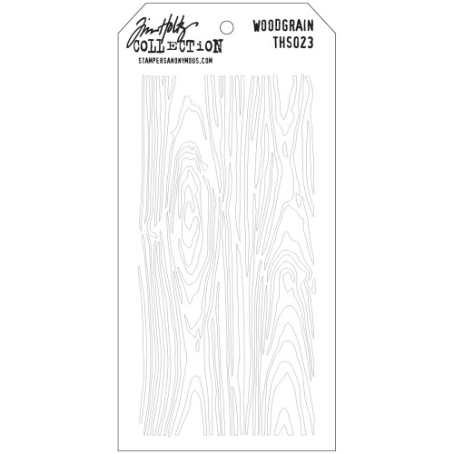 Tim Holtz Layered Stencil: Woodgrain
