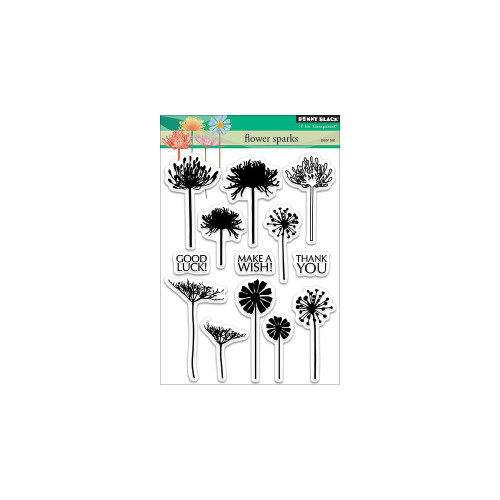 Penny Black Clear Stamp: Flower Sparks