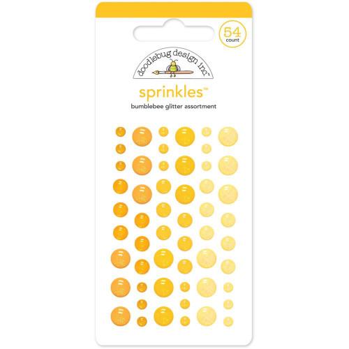 Doodlebug Sprinkles Glitter Enamel Sticker Dots: Bumblebee