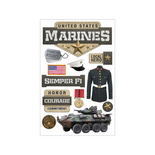 Paper House Productions 3D Stickers: Marines