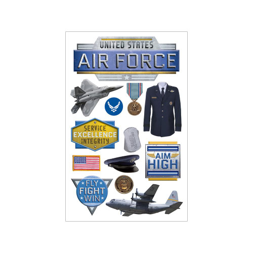 Paper House Productions 3D Stickers: Air Force