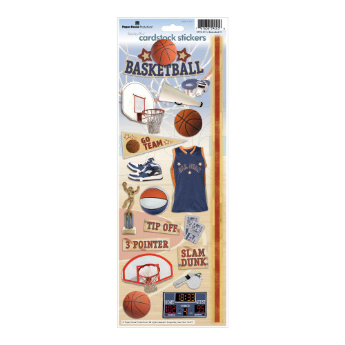 Paper House Productions Cardstock Stickers: Basketball 2