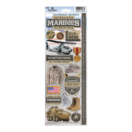 Paper House Productions Cardstock Stickers: Marines