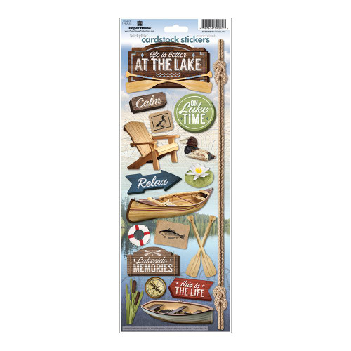 Paper House Productions Cardstock Stickers: At The Lake