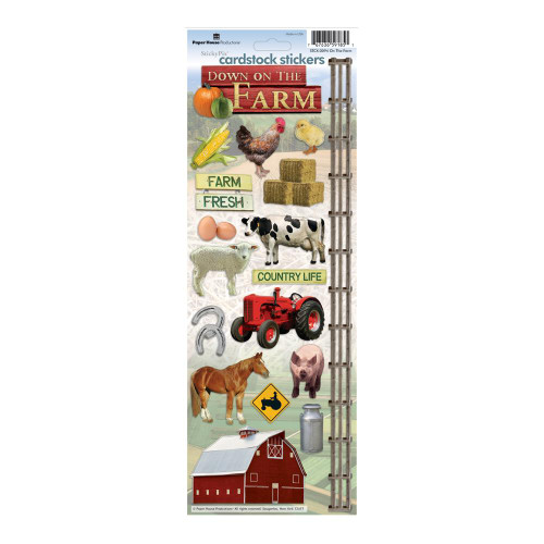 Paper House Productions Cardstock Stickers: On The Farm