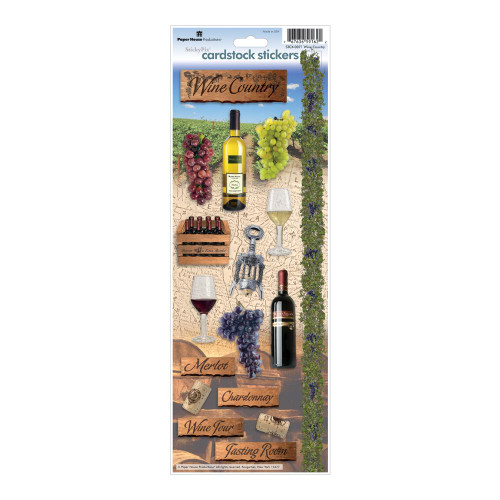 Paper House Productions Cardstock Stickers: Wine Country