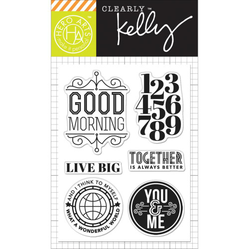 Hero Arts Clearly Kelly Stamps: Live Big