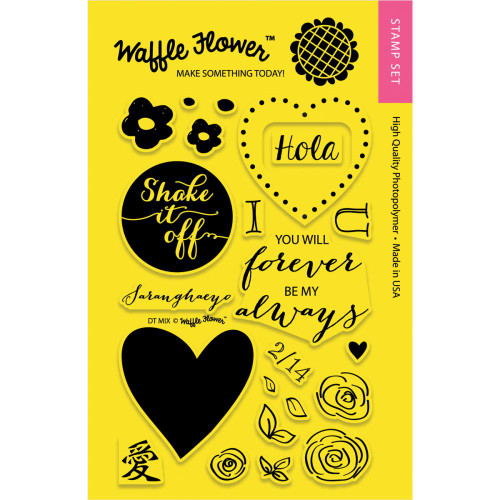 CLEARANCE | Waffle Flower Crafts 4x6 Clear Stamps: DT Mix