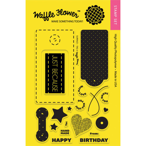 CLEARANCE | Waffle Flower Crafts 4x6 Clear Stamps: Surface Tag