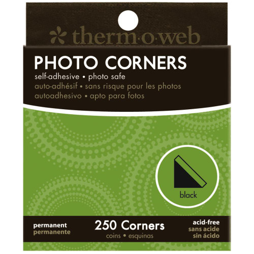 Therm-O-Web Boxed Photo Corners: Black