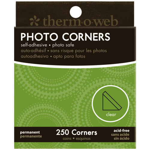 Therm-O-Web Boxed Photo Corners: Clear