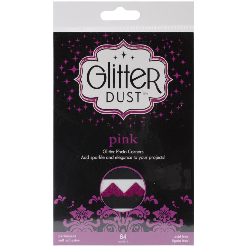 Therm-O-Web Glitter Dust Photo Corners: Pink