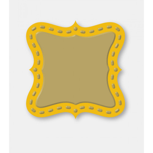 Couture Creations Decorative Dies: Secret Treasures Collection - Square Plaque