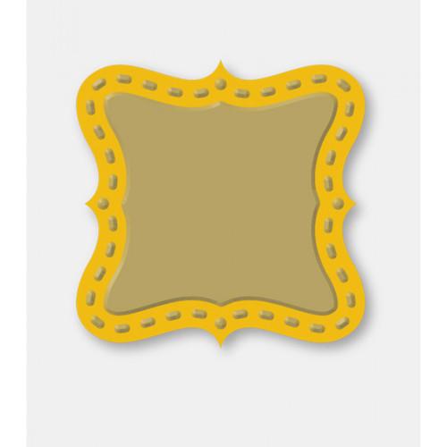 Couture Creations Decorative Dies: Secret Treasures Collection - Square Plaque