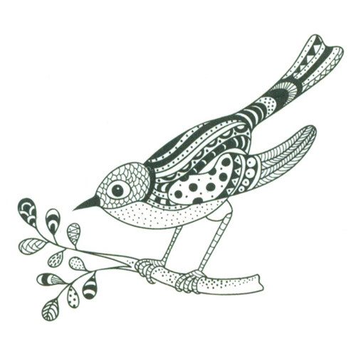 Joy! Crafts Clear Stamps: Zentangle Bird On Branch