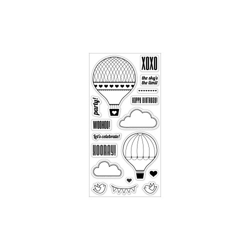 Fiskars 4x8 Clear Stamps: Up In The Air