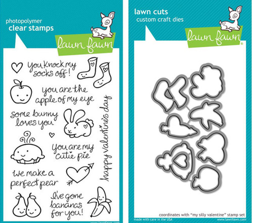 Lawn Fawn Die & Clear Stamp Combo: My Silly Valentine