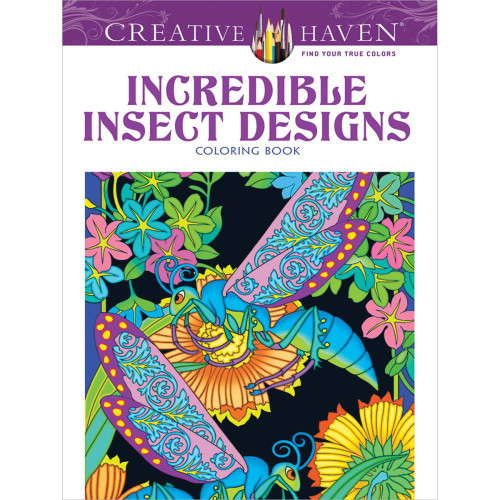 Creative Haven Coloring Book: Incredible Insect Designs