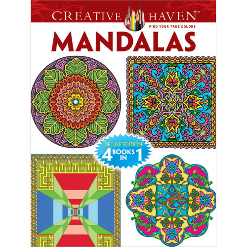 Creative Haven 4-In-1 Coloring Book: Mandalas