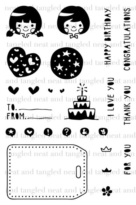 CLEARANCE | Neat & Tangled 4x6 Clear Stamps: Gifts For You