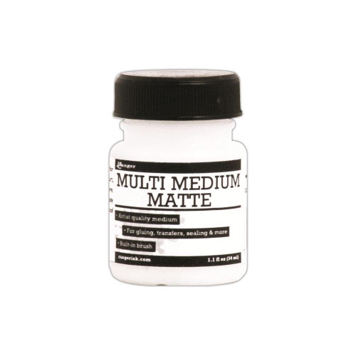 Ranger Multi Medium: Matte (1.1 oz Jar with Built-In Brush)