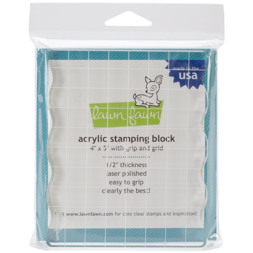 Lawn Fawn Acrylic Stamping Block: 4x5 w/Grip and Grid
