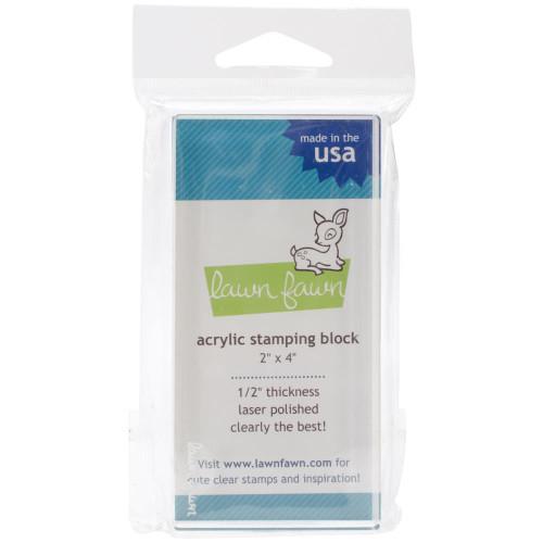 Lawn Fawn Acrylic Stamping Block: 2x4