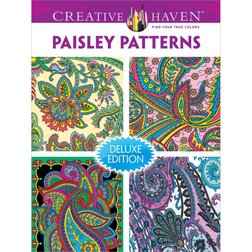 Creative Haven Deluxe Edition Coloring Book: Paisley Patterns