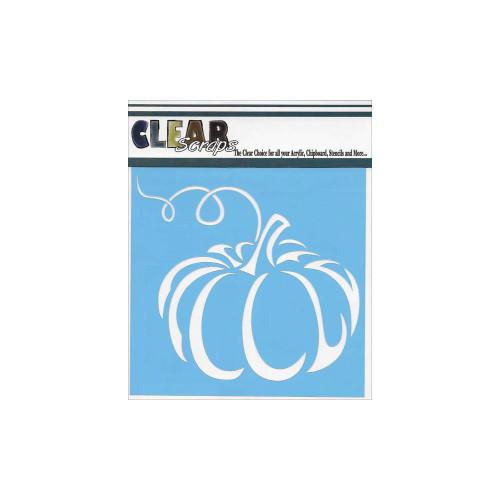ClearScraps 6x6 Stencil: Pumpkin