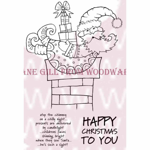 Woodware 3.5x5.5 Clear Stamp: Christmas Delivery