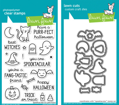 Lawn Fawn Die & Clear Stamp Combo: Spooktacular