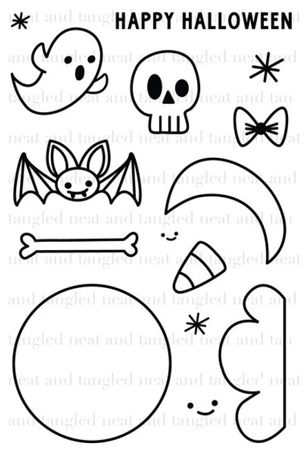 CLEARANCE | Neat & Tangled 4x6 Clear Stamps: Creepy Cute