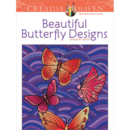 Creative Haven Coloring Book: Beautiful Butterfly Designs