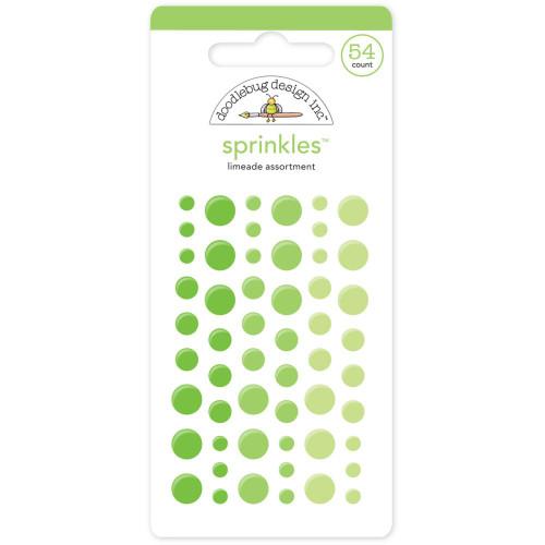 Doodlebug Sprinkles Glossy Enamel Sticker Dots: Limeade