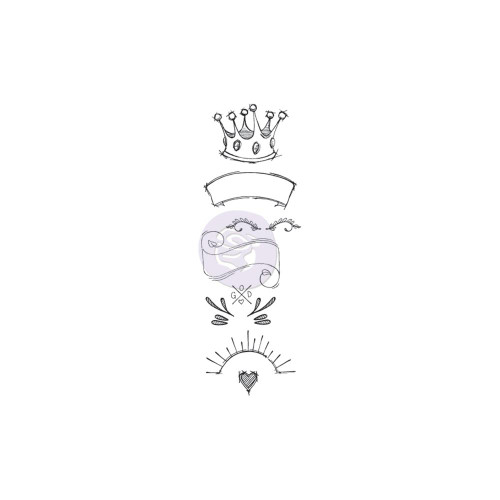 Prima Creating In Faith Cling Stamp: Royal
