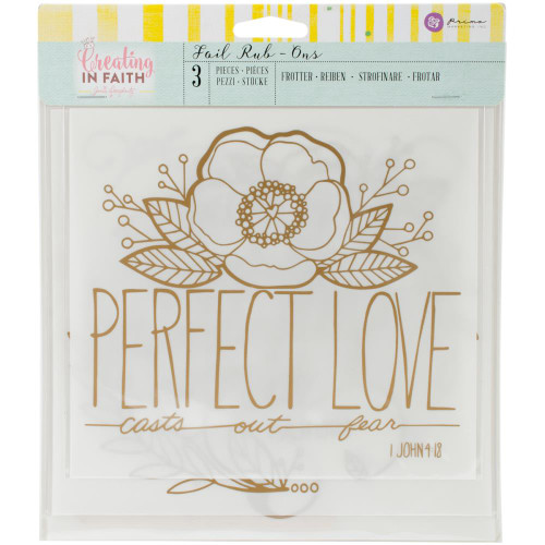 CLEARANCE | Prima Creating In Faith Rub-Ons (Large): Perfect Love