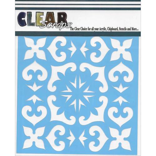 ClearScraps 6x6 Stencil: Mexican Tile