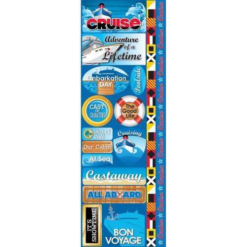 Reminisce Signature Series Cardstock Combo Sticker: Cruise