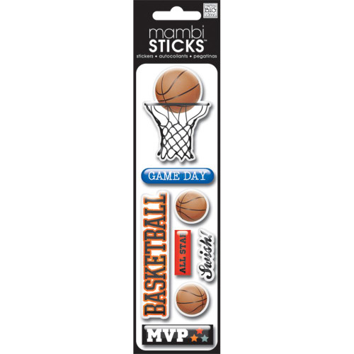 MAMBI Puffy Stickers: Basketball