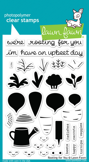 Lawn Fawn Clear Stamp: Rooting For You