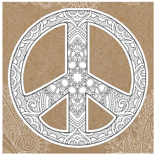 Paper House Diecut Coloring Cards: Peace