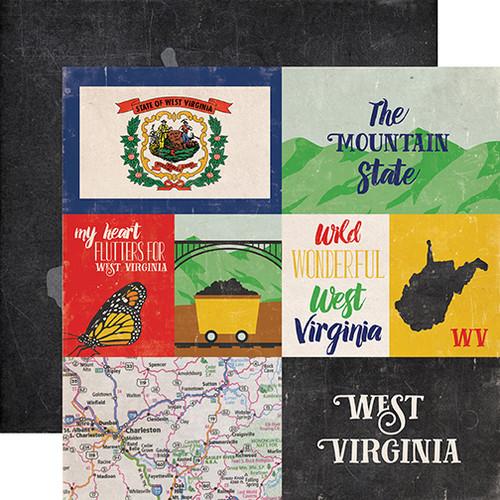 Echo Park Stateside 12x12 Paper: West Virginia