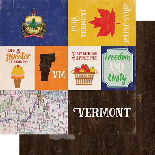 Echo Park Stateside 12x12 Paper: Vermont