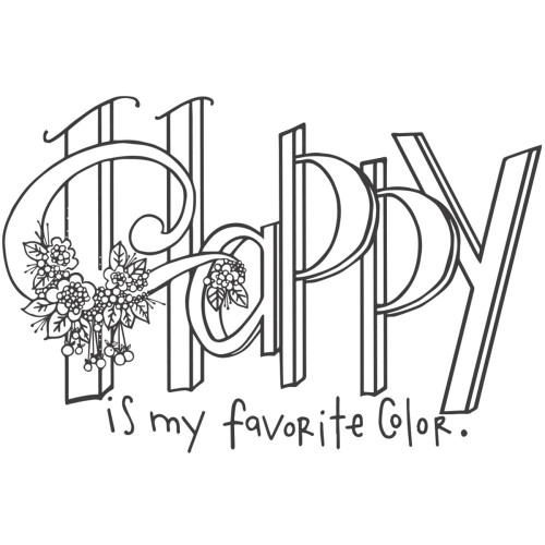CLEARANCE | Spellbinders Designer Series Stamp Set by Tammy Tutterow: Happy Is My Favorite Color