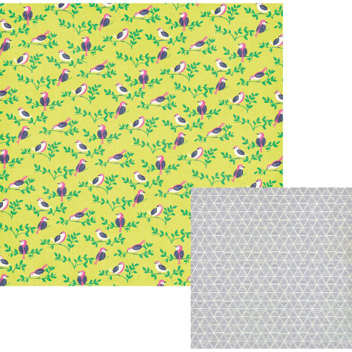 CLEARANCE | WRMK Flower Girl 12x12 Paper: Finch