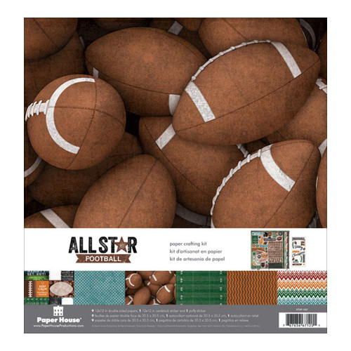 Paper House Productions 12x12 Collection Kit: All Star Football
