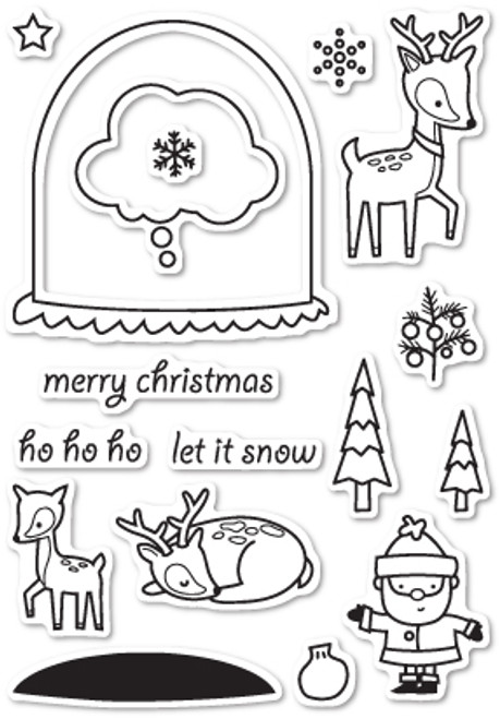 Memory Box Die and Stamp Combo: Snowglobe Wishes