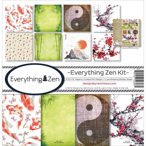 Reminisce Everything Zen 12x12 Collection Kit