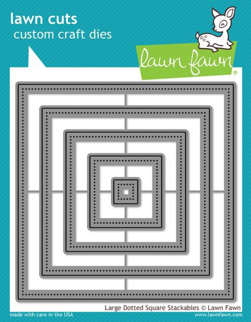 Lawn Fawn Custom Craft Die: Large Dotted Square Stackables